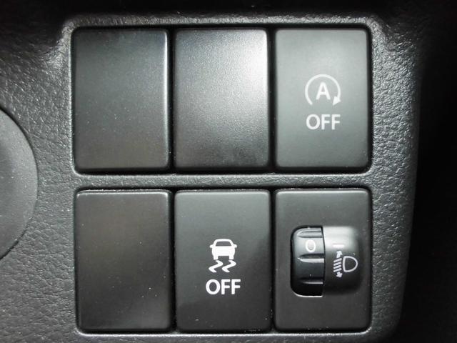 ステアリング右下には機能別OFFスイッチ&マニュアルレベリング
