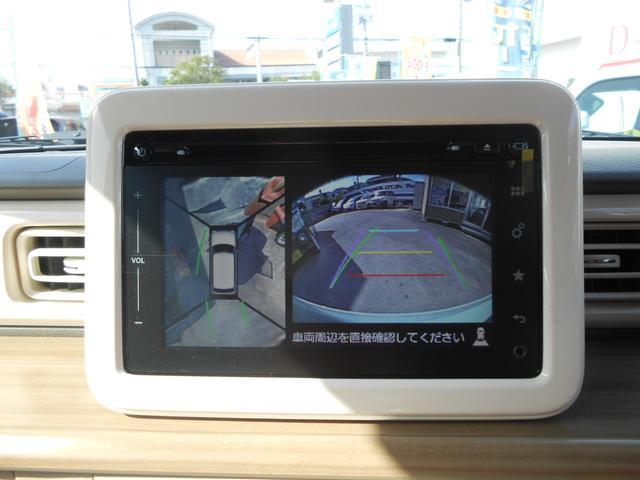 モニターはボタンひとつで映像を切り替え。3つの視点を選べます