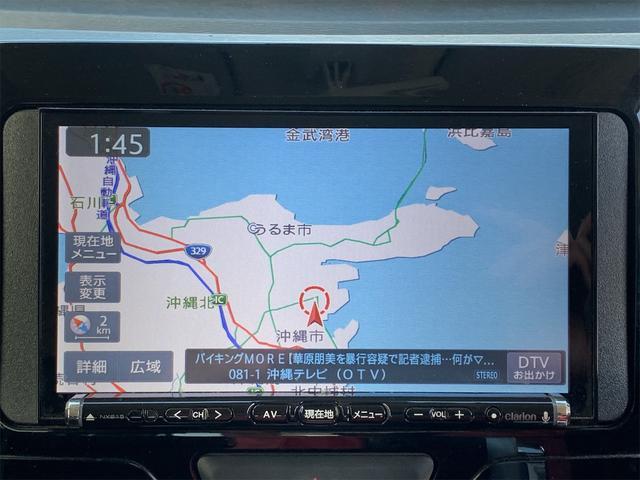 カスタムRS SAII ターボ 衝突軽減システム 社外ナビ フルセグTV DVD再生 Buluetooth 両側パワースライド LEDヘッドライト フォグライト 純正15インチアルミ エンジンプッシュスタート ETC(10枚目)