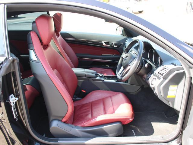 E250クーペ 後期最終型 AMGスポーツPKG レーダーセーフティーPKG パノラマSR 赤レザー LEDライト HDD地デジ360カメラ パークトロニック 18AW キーレスゴー 正規ディーラー車本土仕入(16枚目)