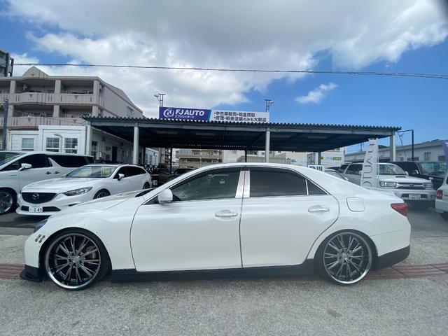 250G リラックスセレクション・ブラックリミテッド GTウイング 車高調 社外マフラー 20インチAW シートカバー ナビ TV HIDヘッド(6枚目)