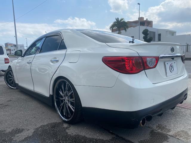 250G リラックスセレクション・ブラックリミテッド GTウイング 車高調 社外マフラー 20インチAW シートカバー ナビ TV HIDヘッド(7枚目)