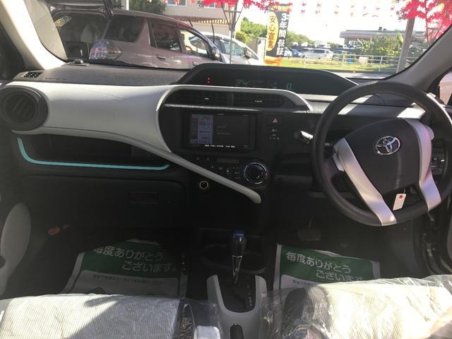 トヨタ アクア S 保証2年付 社外ナビ ETC