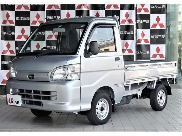 沖縄の中古車 スバル サンバートラック 車両価格 69.8万円 リ済別 平成26年 1.3万km シルバー