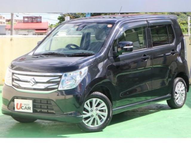 沖縄の中古車 スズキ ワゴンR 車両価格 79.8万円 リ済別 2014(平成26)年 4.6万km ブラック