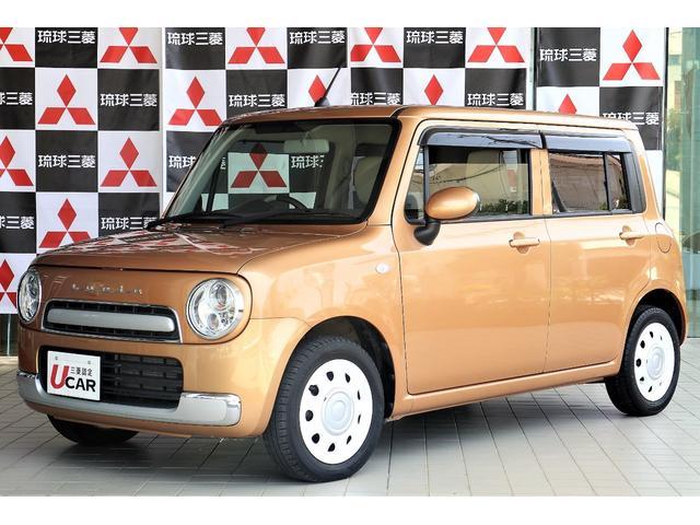 沖縄の中古車 スズキ アルトラパンショコラ 車両価格 89.8万円 リ済別 平成27年 2.6万km ゴールド