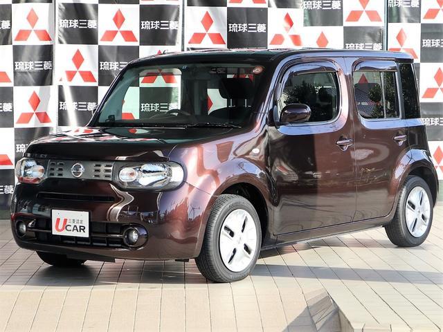 沖縄の中古車 日産 キューブ 車両価格 89.8万円 リ済別 平成25年 4.2万km Dブラウン