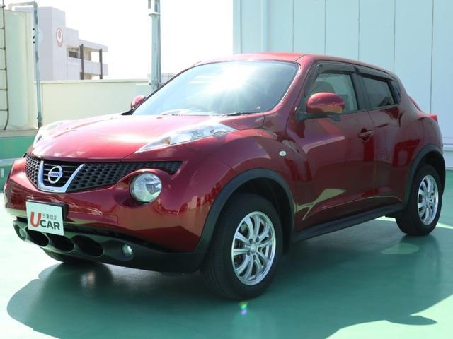 沖縄の中古車 日産 ジューク 車両価格 89.8万円 リ済別 平成23年 5.7万km レッド