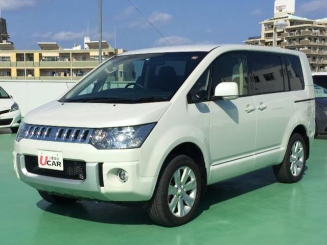 沖縄県の中古車ならデリカD:5 Dパワーパッケージ 両側パワスラ SDナビ 8300km