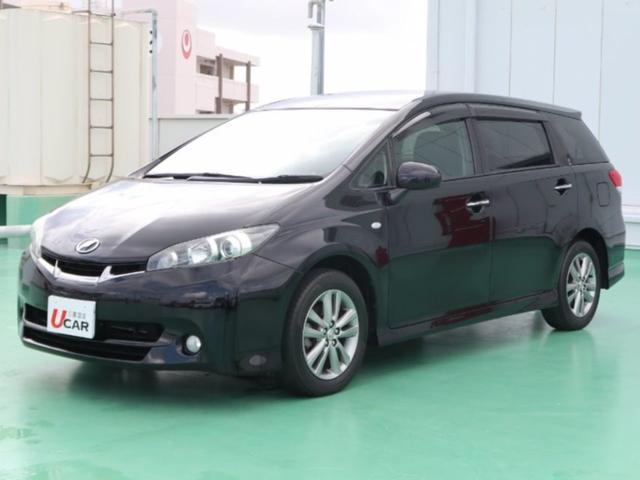 沖縄の中古車 トヨタ ウィッシュ 車両価格 119.8万円 リ済別 平成24年 5.7万km ブラック