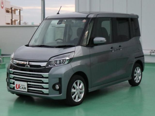 沖縄の中古車 三菱 eKスペースカスタム 車両価格 129.8万円 リ済別 平成30年 1.1万km グレー
