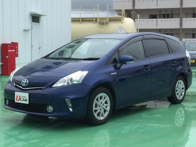 沖縄県の中古車ならプリウスアルファ S 内地仕入 1オーナー7人乗り 純ナビフロント&リアカメラ