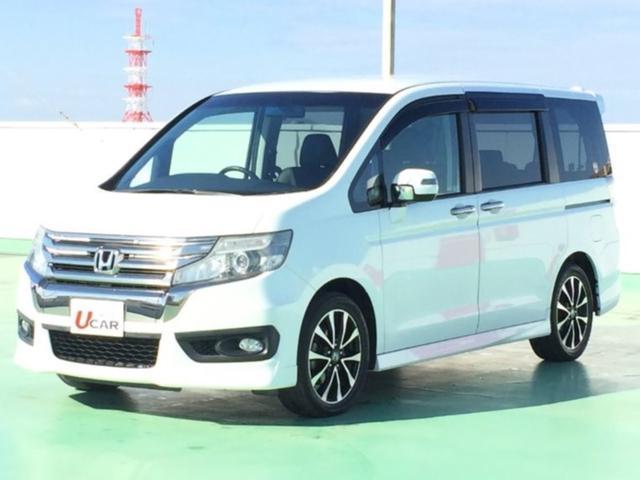 沖縄の中古車 ホンダ ステップワゴンスパーダ 車両価格 175.8万円 リ済別 平成24年 5.1万km ホワイト