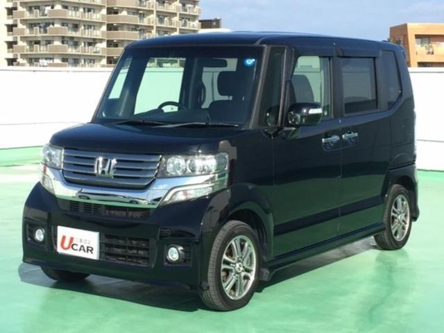 N-BOXカスタム(沖縄 中古車) 色:ブラック 価格:99.8万円 年式:平成25年 走行距離:3.8万km