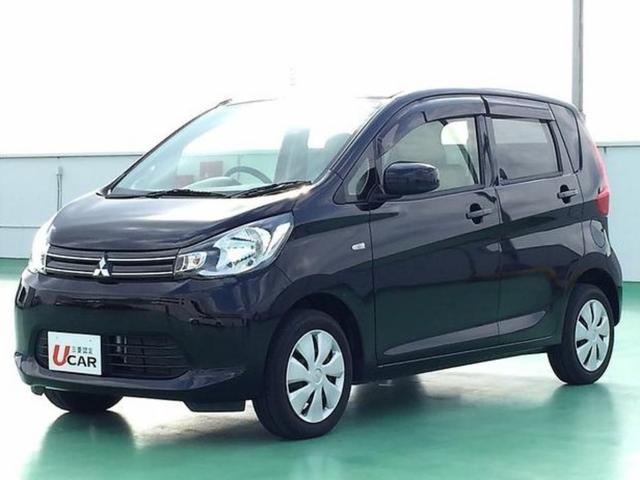 沖縄の中古車 三菱 eKワゴン 車両価格 74.8万円 リ済別 2014(平成26)年 3.5万km ブラック