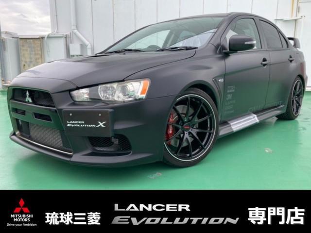 沖縄県の中古車ならランサー GSRエボリューションX ファイナルコンセプト・レカロシート・5速マニュアルミッション・ターボ車・大径レイズ製アルミホイール・HKSインテークパイプ・車高調&キャンバー調整・追加インジェクタ・HDDナビ・キーレス・HID