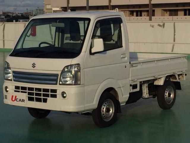 沖縄の中古車 スズキ キャリイトラック 車両価格 79.8万円 リ済別 2014(平成26)年 0.8万km ホワイト