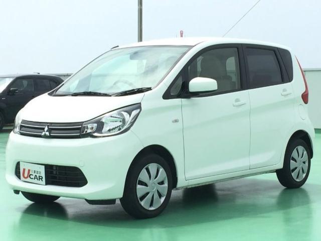 沖縄の中古車 三菱 eKワゴン 車両価格 74.8万円 リ済別 2014(平成26)年 2.2万km ホワイト