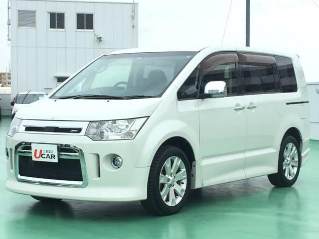 沖縄県の中古車ならデリカD:5 ローデストGパワーPKG 内地仕入 7人乗 後席モニター