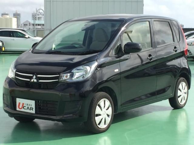 沖縄の中古車 三菱 eKワゴン 車両価格 69.8万円 リ済別 2016(平成28)年 3.5万km ブラック