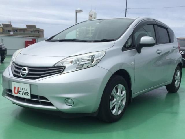 沖縄の中古車 日産 ノート 車両価格 54.8万円 リ済別 2012(平成24)年 4.6万km シルバーM