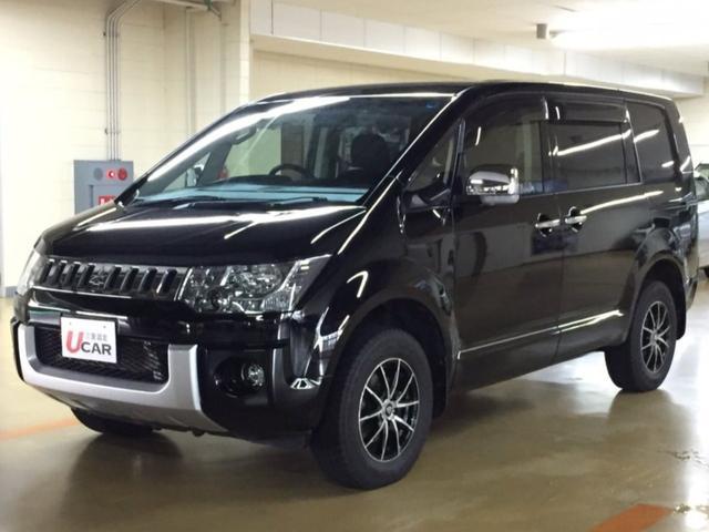 三菱 DパワーPKG/新品タイヤ・内地仕入・新品ナビ・後席モニター