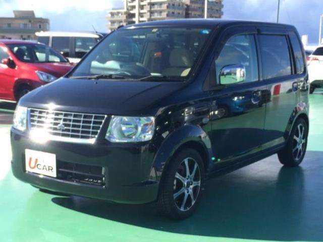 沖縄の中古車 三菱 eKワゴン 車両価格 44.8万円 リ済別 2009(平成21)年 5.6万km ブラック