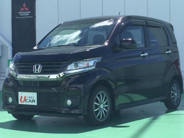沖縄の中古車 ホンダ N-WGNカスタム 車両価格 89.8万円 リ済別 2014(平成26)年 2.9万km ワインM
