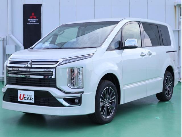沖縄県の中古車ならデリカD:5 アーバンギア Gパワー e-アシスト 登録済未使用車 保証付
