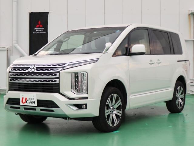 沖縄の中古車 三菱 デリカD:5 車両価格 339.8万円 リ済別 2019(令和1)年 80km ホワイト