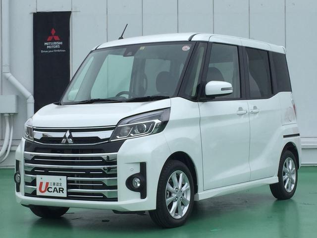 沖縄県の中古車ならeKスペースカスタム カスタムG e-アシスト 内地仕入 LED ワンオーナー車