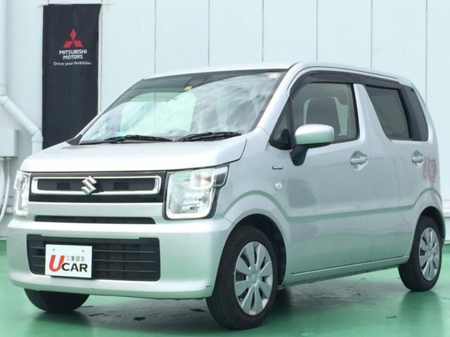 沖縄県の中古車ならワゴンR ハイブリッドFX内地仕入 デュアルブレーキサポート 社外ナビ