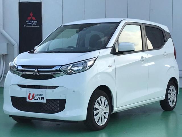 沖縄の中古車 三菱 eKワゴン 車両価格 99.8万円 リ済別 2019(令和1)年 1.0万km ホワイト