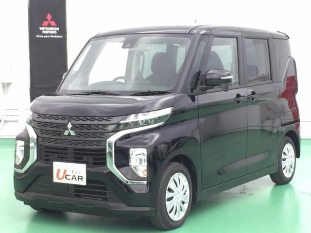 沖縄の中古車 三菱 eKクロススペース 車両価格 114.9万円 リ済別 2021(令和3)年 5km ブラック