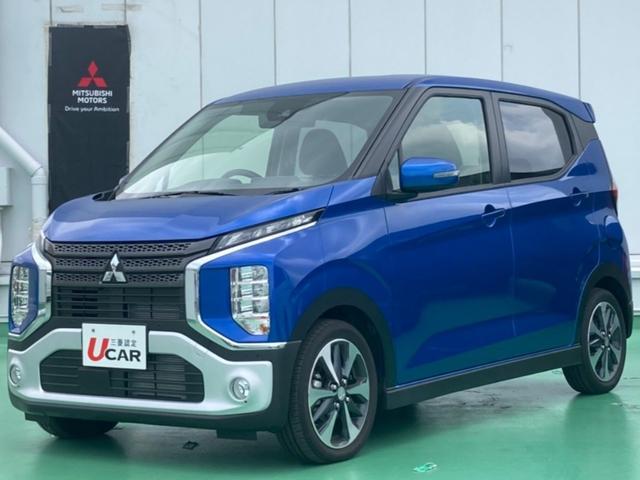 eKクロス(沖縄 中古車) 色:ライトニングブルーマイカ 価格:154.8万円 年式:2020(令和2)年 走行距離:21km