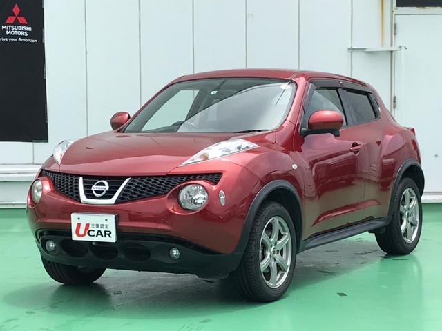 沖縄の中古車 日産 ジューク 車両価格 69.8万円 リ済別 2012(平成24)年 5.6万km ラディアントレッドPM