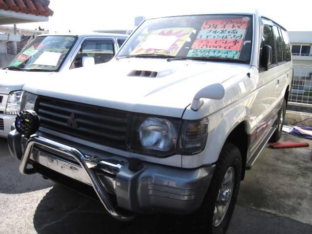 沖縄の中古車 三菱 パジェロ 車両価格 39万円 リ済込 平成5年 10.5万km ホワイトII