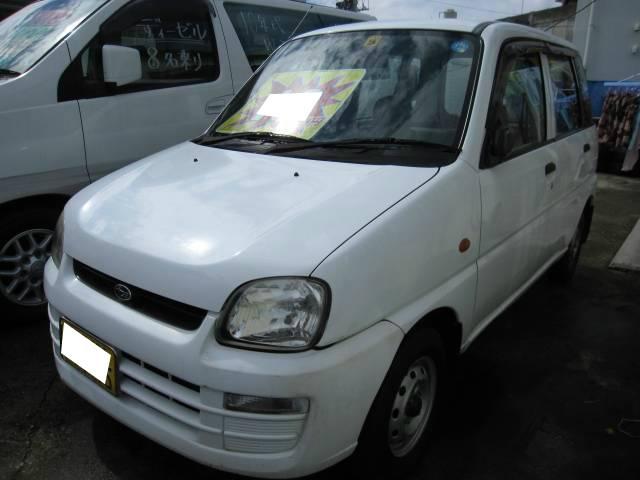 沖縄の中古車 スバル プレオ 車両価格 19万円 リ済込 平成14年 10.8万km ホワイト