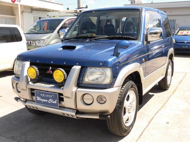 沖縄の中古車 三菱 パジェロミニ 車両価格 39万円 リ済込 1999(平成11)年 7.3万km カナルブルーMII