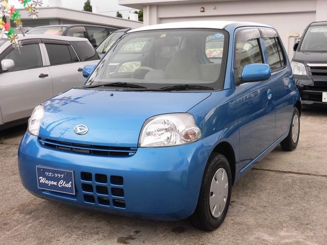 沖縄の中古車 ダイハツ エッセ 車両価格 33万円 リ済込 2008(平成20)年 8.1万km ブルー