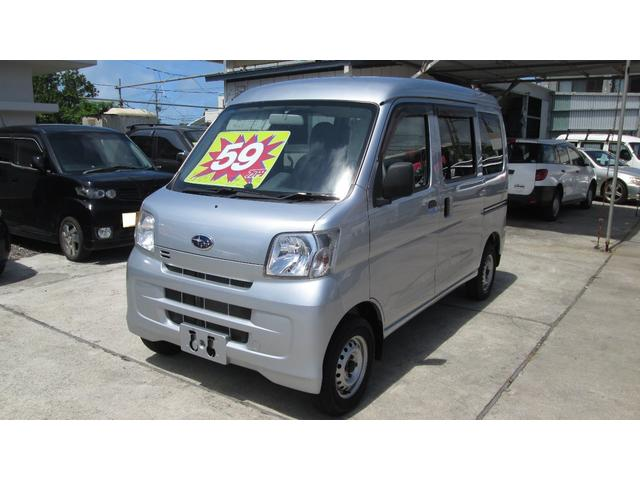 沖縄の中古車 スバル サンバーバン 車両価格 59万円 リ済込 2013(平成25)年 10.0万km シルバー