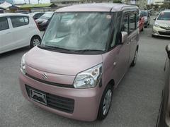 沖縄の中古車 スズキ スペーシア 車両価格 79.9万円 リ済別 平成25年 7.2万K ピンク