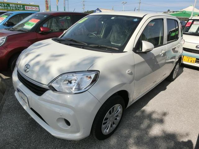 沖縄の中古車 トヨタ パッソ 車両価格 121万円 リ済別 2019年 0.7万km パールホワイト3