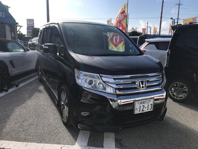 沖縄の中古車 ホンダ ステップワゴンスパーダ 車両価格 149万円 リ済別 2014(平成26)年 6.0万km ブラック