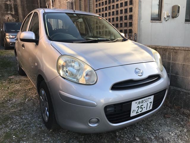 沖縄の中古車 日産 マーチ 車両価格 17万円 リ済込 2012(平成24)年 14.3万km シルバー