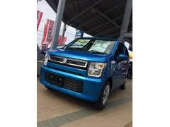 沖縄の中古車 スズキ ワゴンR 車両価格 111万円 リ済別 平成29年 4K ブリスクブルーメタリック