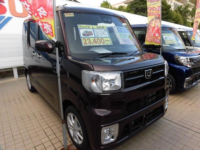 沖縄の中古車 ダイハツ ウェイク 車両価格 155.5万円 リ済別 新車  プラムブラウンクリスタルマイカ