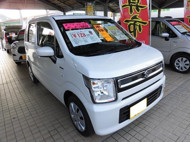 沖縄の中古車 スズキ ワゴンR 車両価格 123万円 リ済込 平成30年 10km ピュアホワイトパール