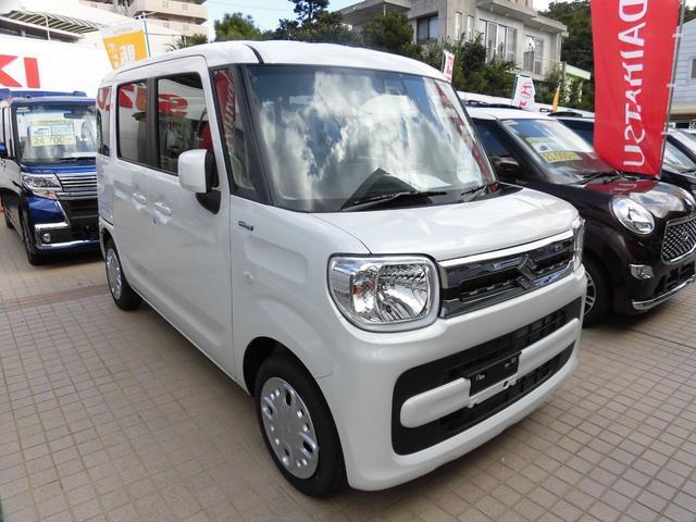 沖縄の中古車 スズキ スペーシア 車両価格 146.8万円 リ済別 新車  ピュアホワイトパール