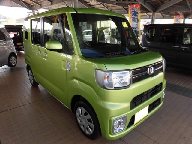 沖縄の中古車 ダイハツ ウェイク 車両価格 113万円 リ済込 平成29年 15km フレッシュグリーンメタリック